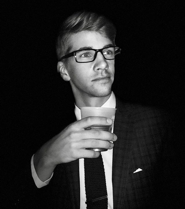 GQ photoshoot was fun PC: @mlsenger • • #GQ #blackandwhite #photoshoot #suit #knittedtie #glasses