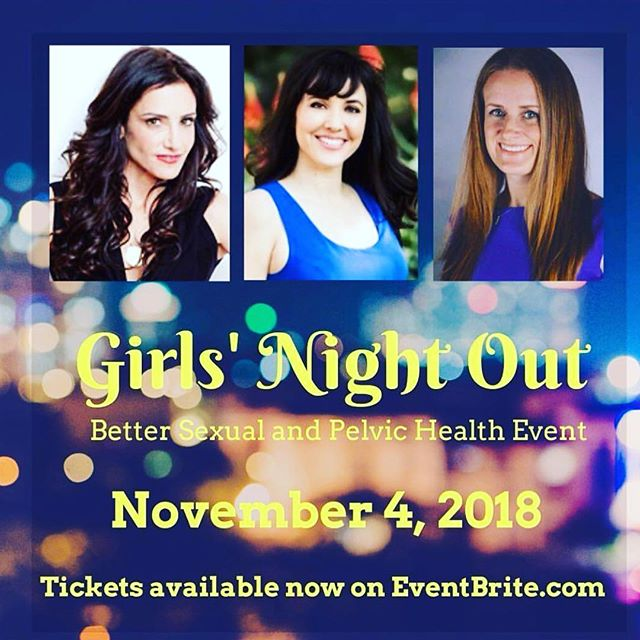 Come join us on Sunday evening Nov 4th In DTLA with @theladypartspt and @sexwithemily for a fun night of pelvic/ sexual health education, prizes, appetizers and drinks! Tickets selling out soon! Purchase tickets via link in my bio!