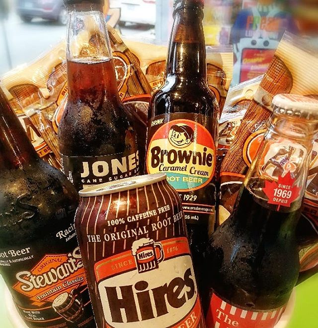 We love root beer...do you? 🍺 ° ° ° ° #hires #rootbeer #popshoppe #jonessoda #stewarts #candystore #candy #gummies #moreismore #nomnom #cravings #thirsty #bottonsup #colddrinks #freaklunchbox