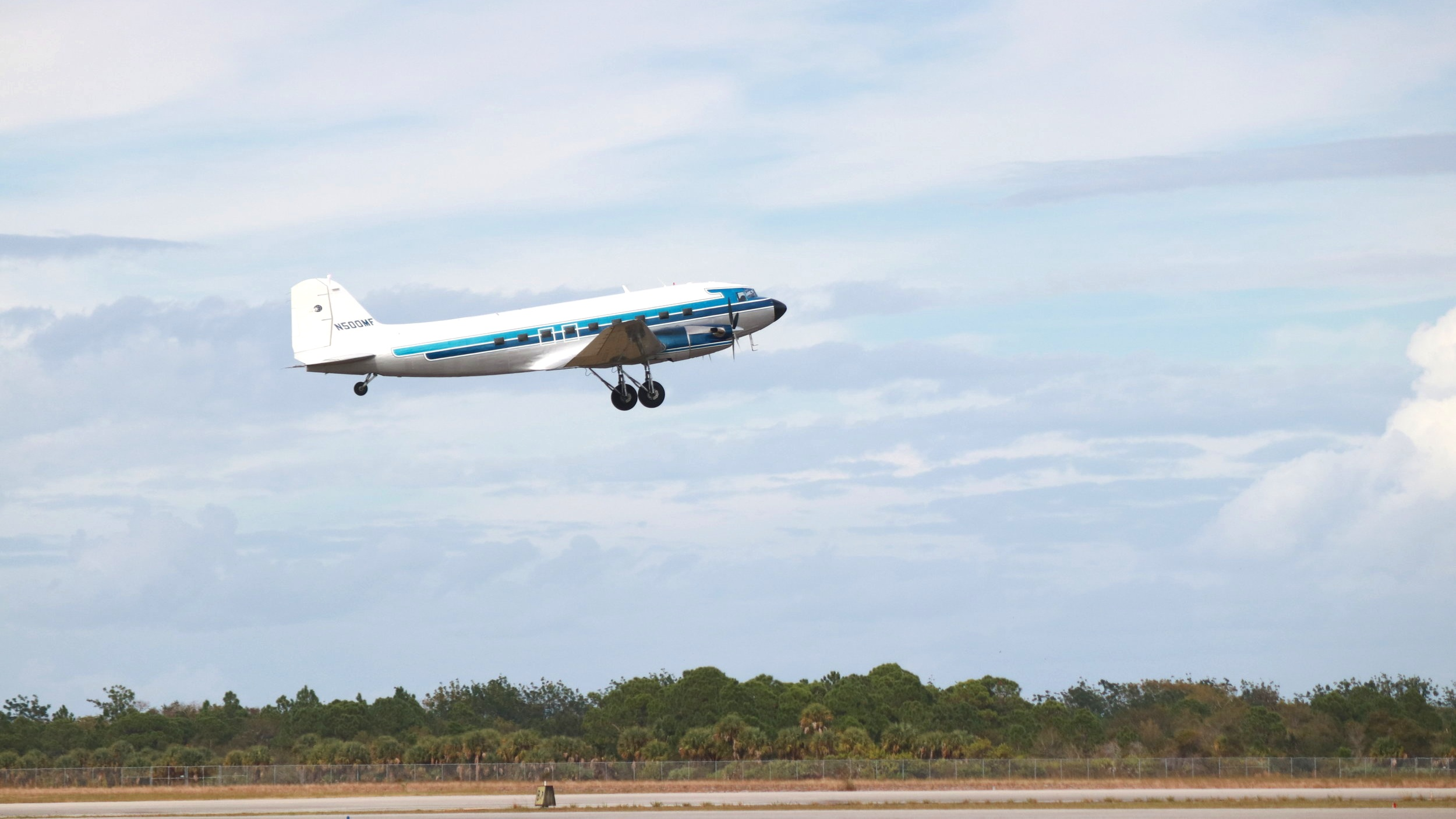 MFI takes off from the Treasure Coast International Airport in Fort Pierce, FL.