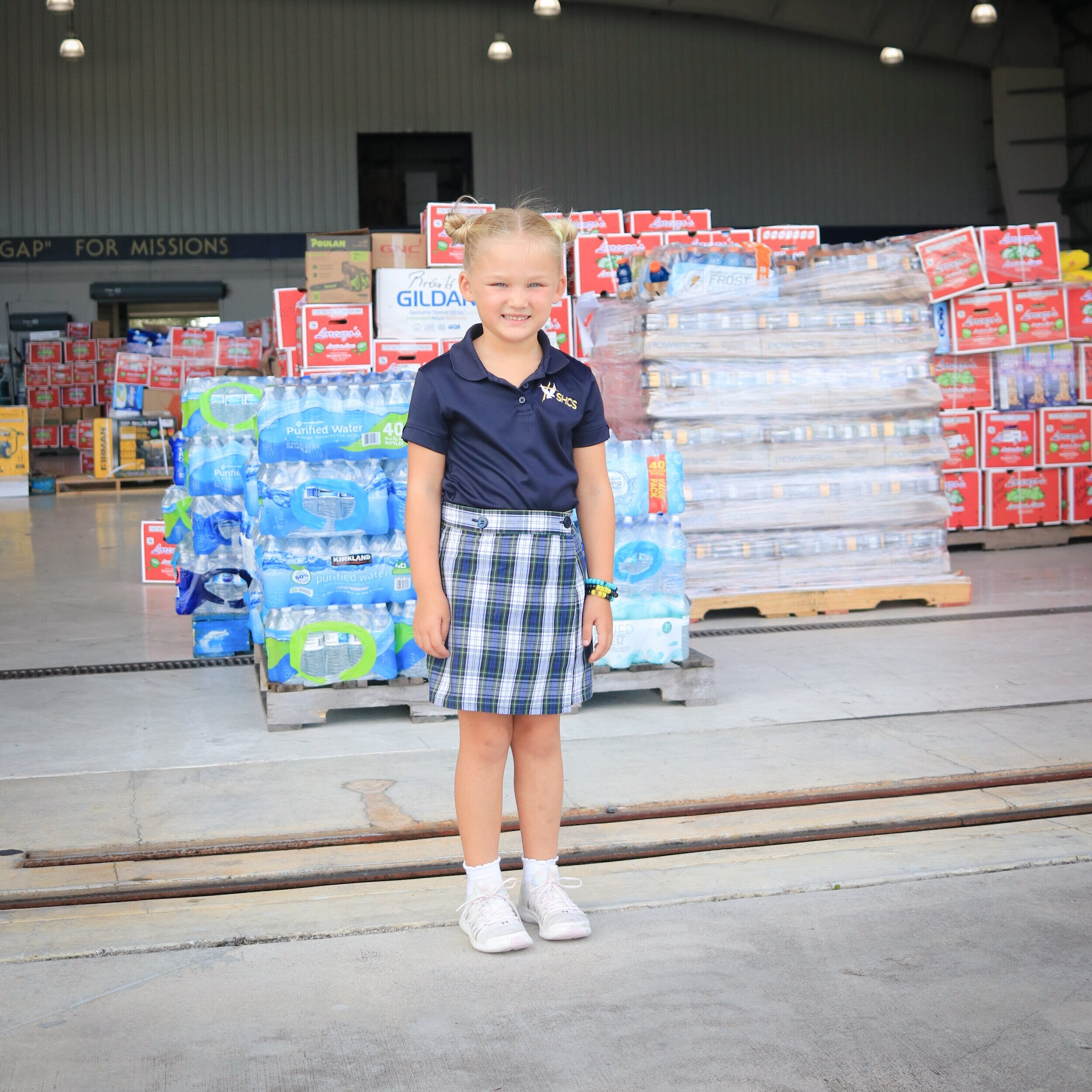 Charlotte was able to raise enough money to help MFI fly a disaster relief flight to the Bahamas.