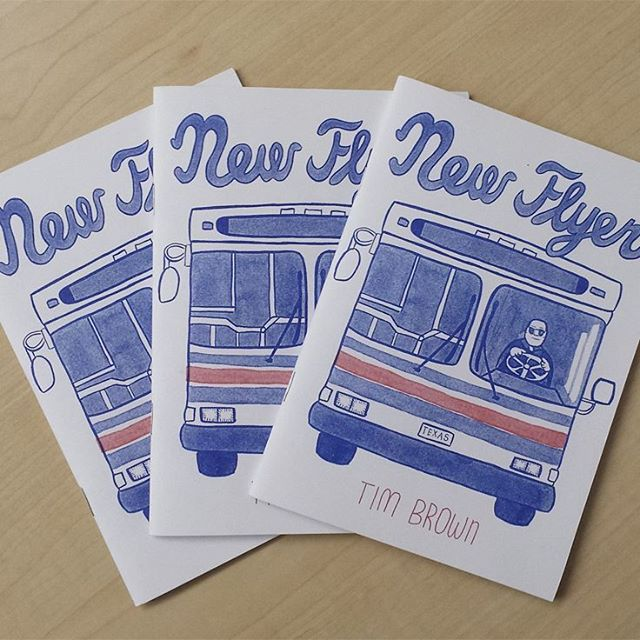 "Hi there instagram. I've just launched my website, which includes a link to my etsy store which has three zines, including New Flyer, seen here. Quimby's bookstore describes New Flyer as ""Misty watercolored meditations on the psychosocial landscapes of Austin's mass transit become one cartoonist's history,writ in bus lines. Alternates rider sketches with handwritten anecdotes that put you in the seat with Brown, as he points out all the familiar points and passengers along the way. Porcellinoey! And riso so you know it's realo."" Check out the link in my header."