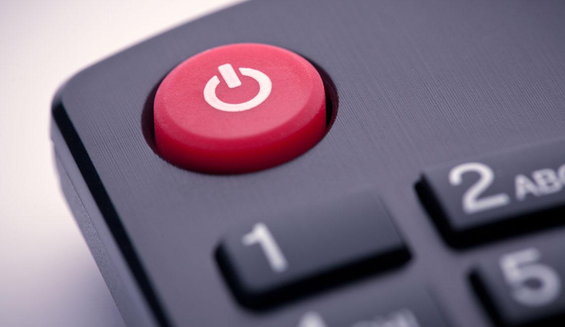 Turn off unused electronics