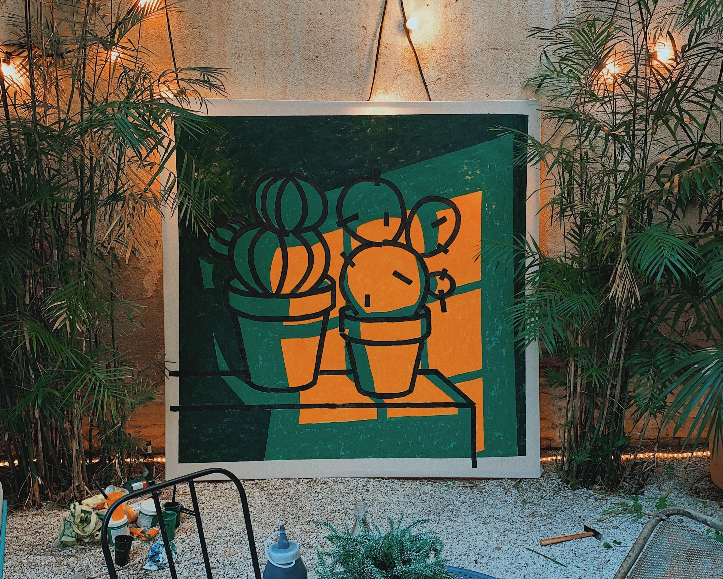 medina+oscar+mellow+scenes+bestore+diagonal+barcelona+livepainting+plants+designweek