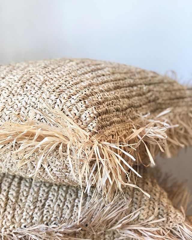 Raffia pillows back in stock 🌾