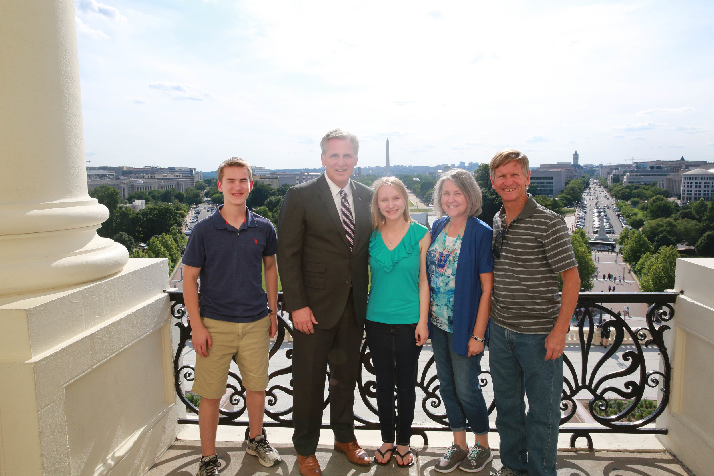 Daniel, Congressman McCarthy, Christiana, Carol, and Mike