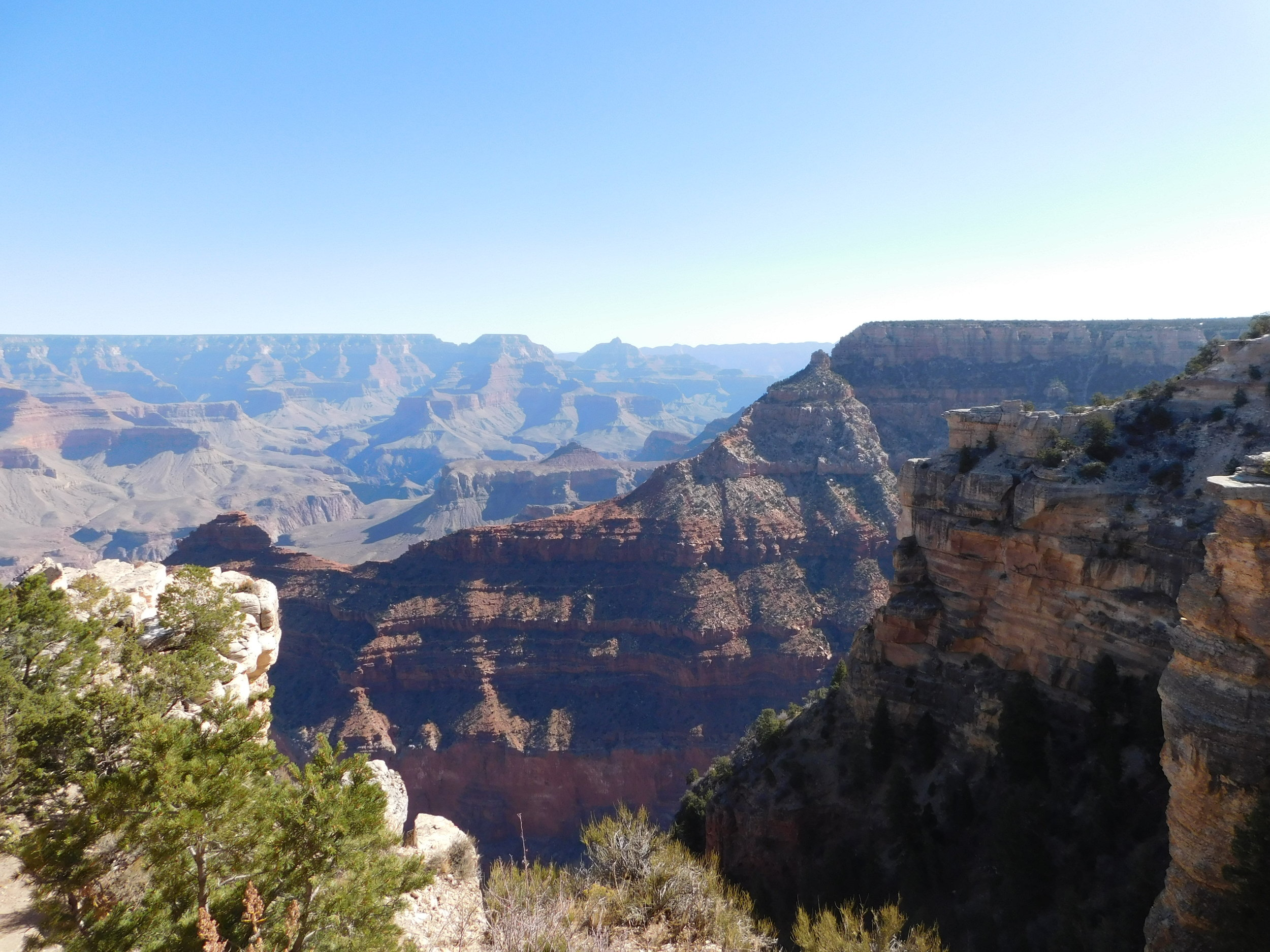Our first view of the Grand Canyon! Photo credit Josiah Macy