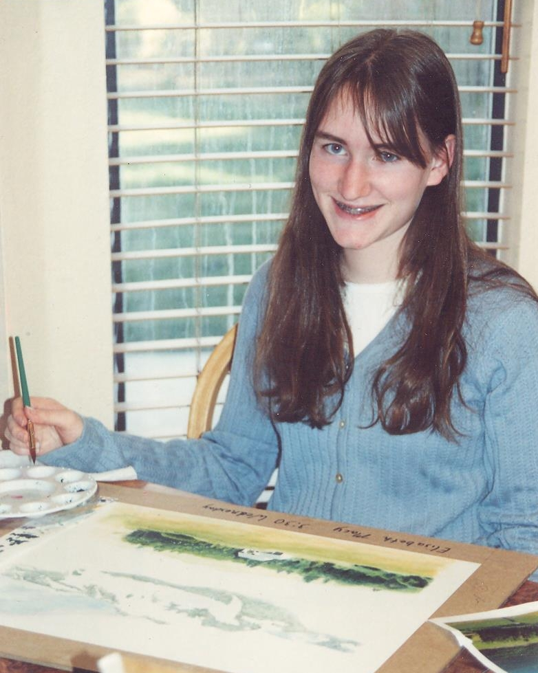 I was fifteen and working on my first watercolor when this picture was taken.