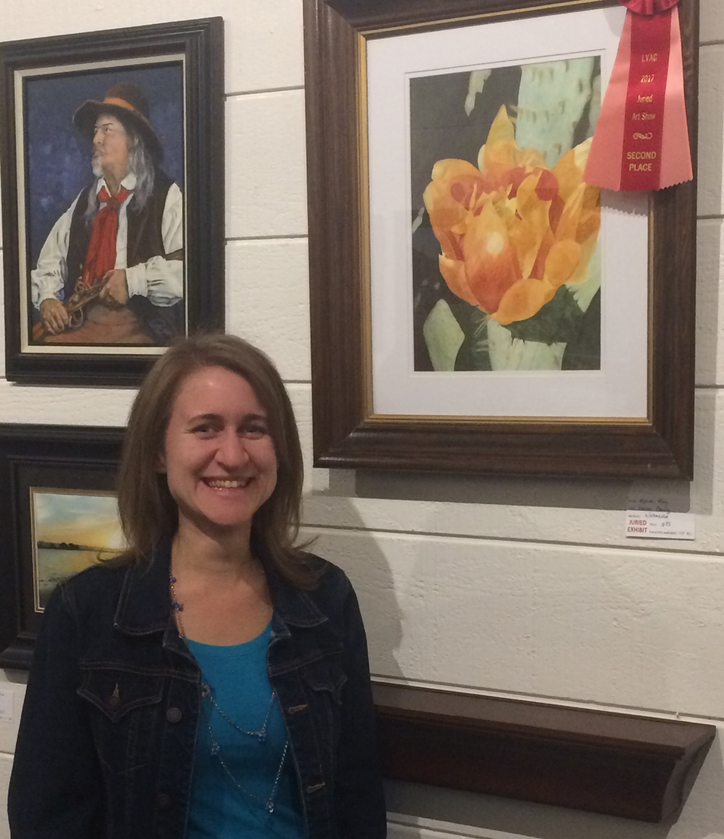 Melissa took second place with her watercolor painting Desert Beauty in the Lakes and Valleys Art Guild juried art show!