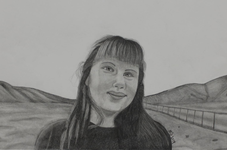 Graphite Portrait class - student age 15
