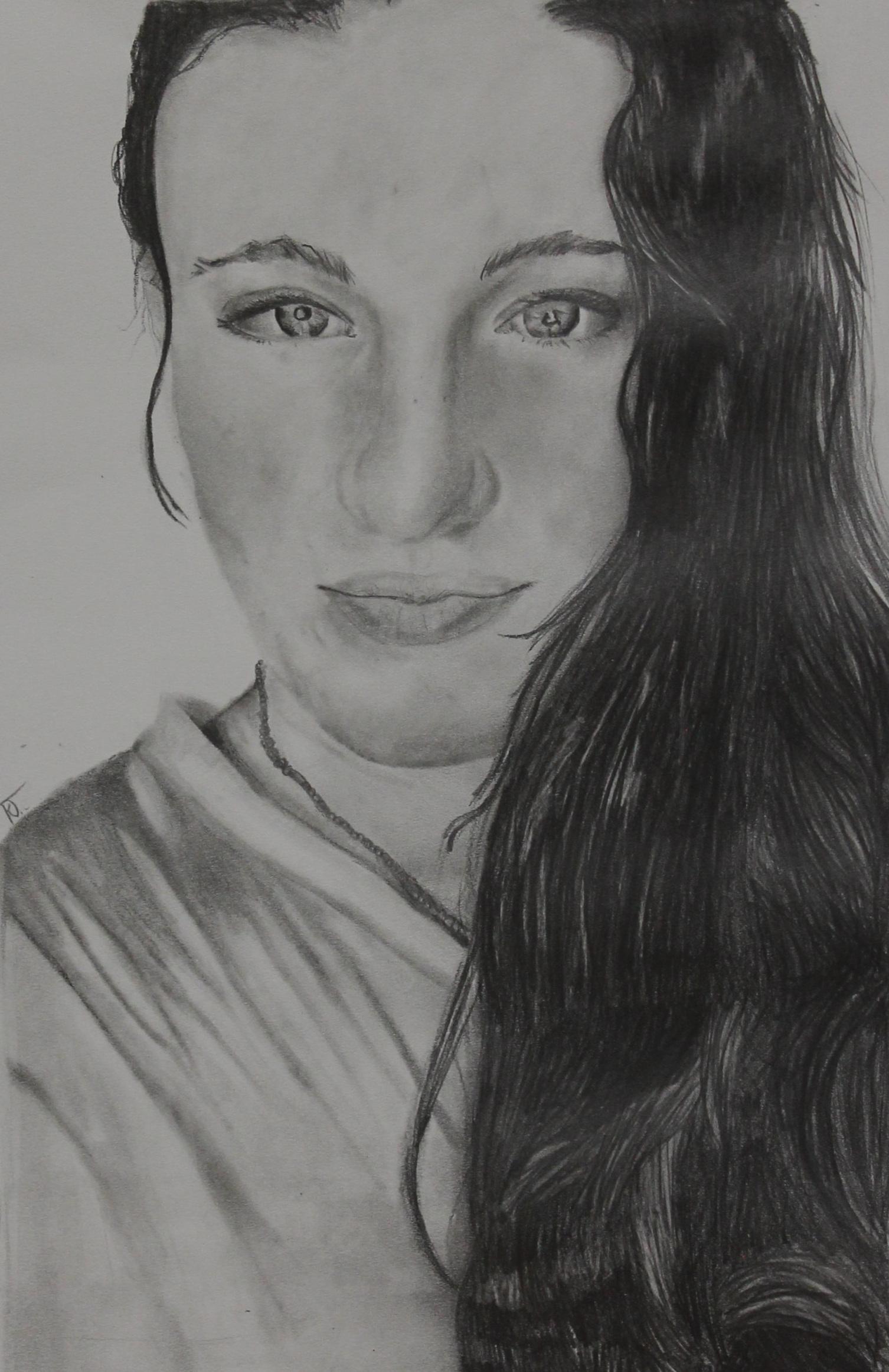 Graphite Portrait class - student age 13