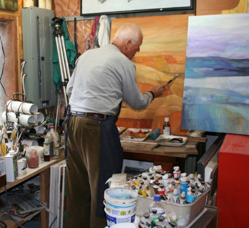 Bob at work in the painting section of the studio