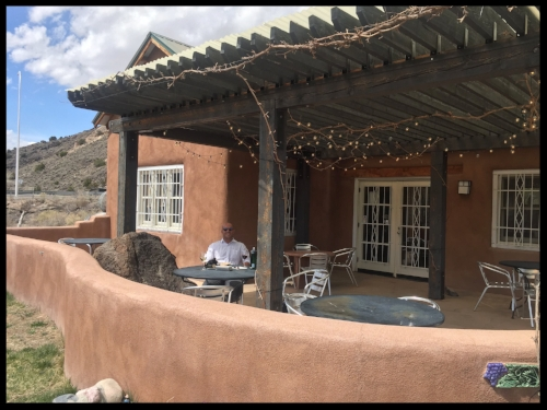Enjoying some wine on Vivác Winery's lovely tasting room patio in Dixon