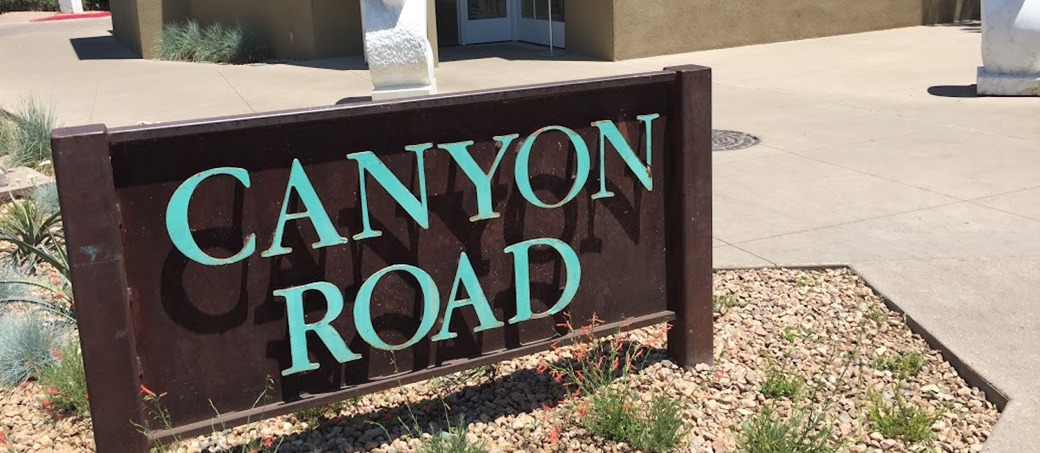 Canyon Road street sign