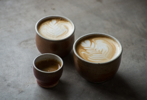 Prismatic's coffee not only tastes great, it looks beautiful too!