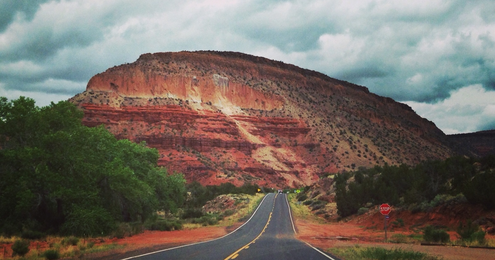A view of Battleship Rock from NM 4, en route to Jemez Springs // Photo by Kerry M. Halasz