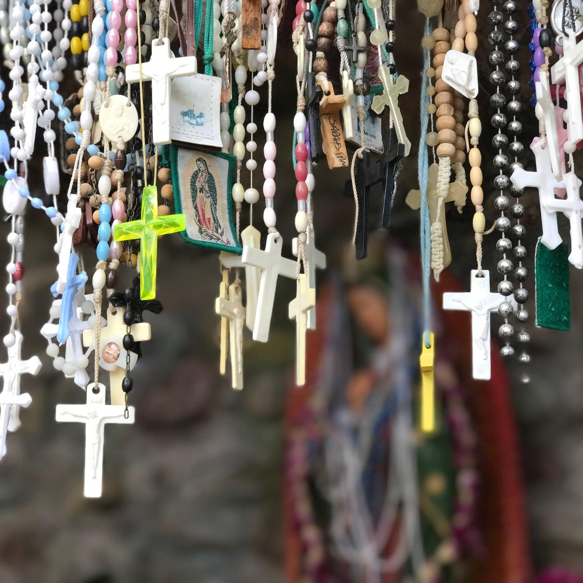 Crosses hang in El Santuario de Chimayo // Photo by Kerry M. Halasz