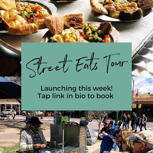 New Tour Alert! 🚨 Our Street Eats tour launches this week and features all the hidden gems of the #SantaFePlaza! This 2.5 half walking tour includes 4 tastings from some of Santa Fe's best kept secrets served with a side of fascinating side of #wildwest history. Book today! 🌮