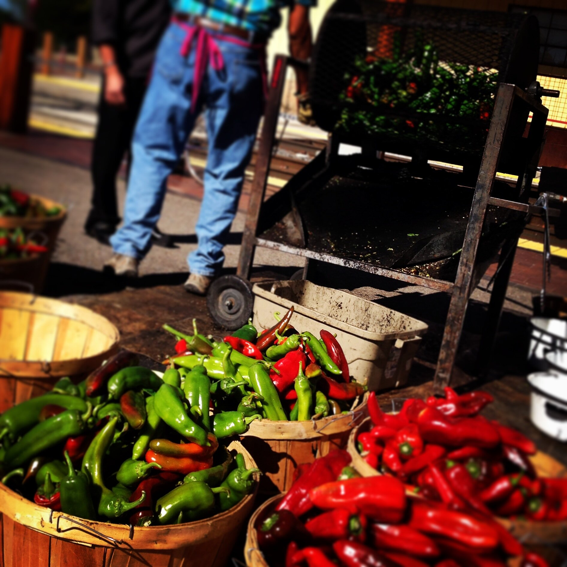 Fall is the perfect time to catch Matt Romero of Romero Farms and his live chile roasting demonstrations
