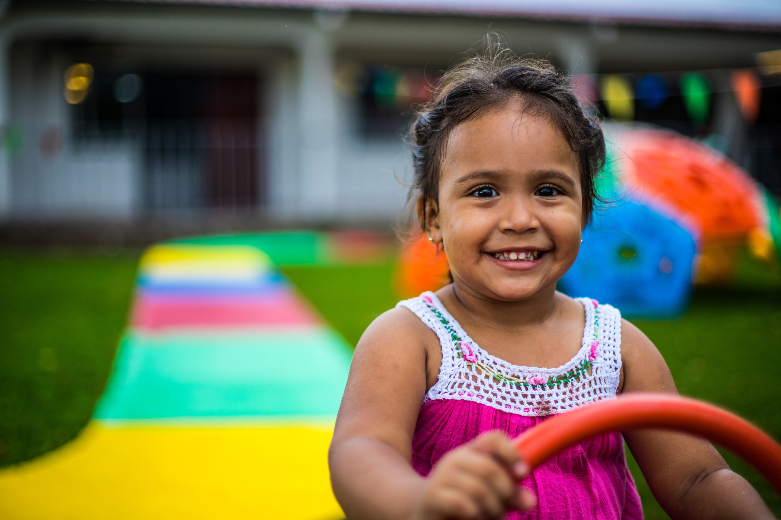 Due to child protection laws in Panama, we can not show images of the children in our care on this site. This is the daughter of one of our BSAM students.