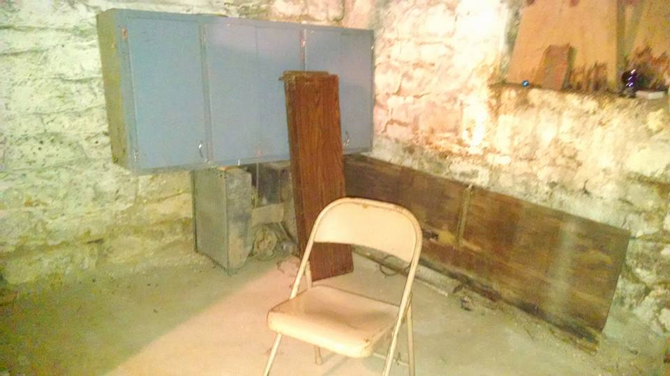 Inside the basement of Sallie House
