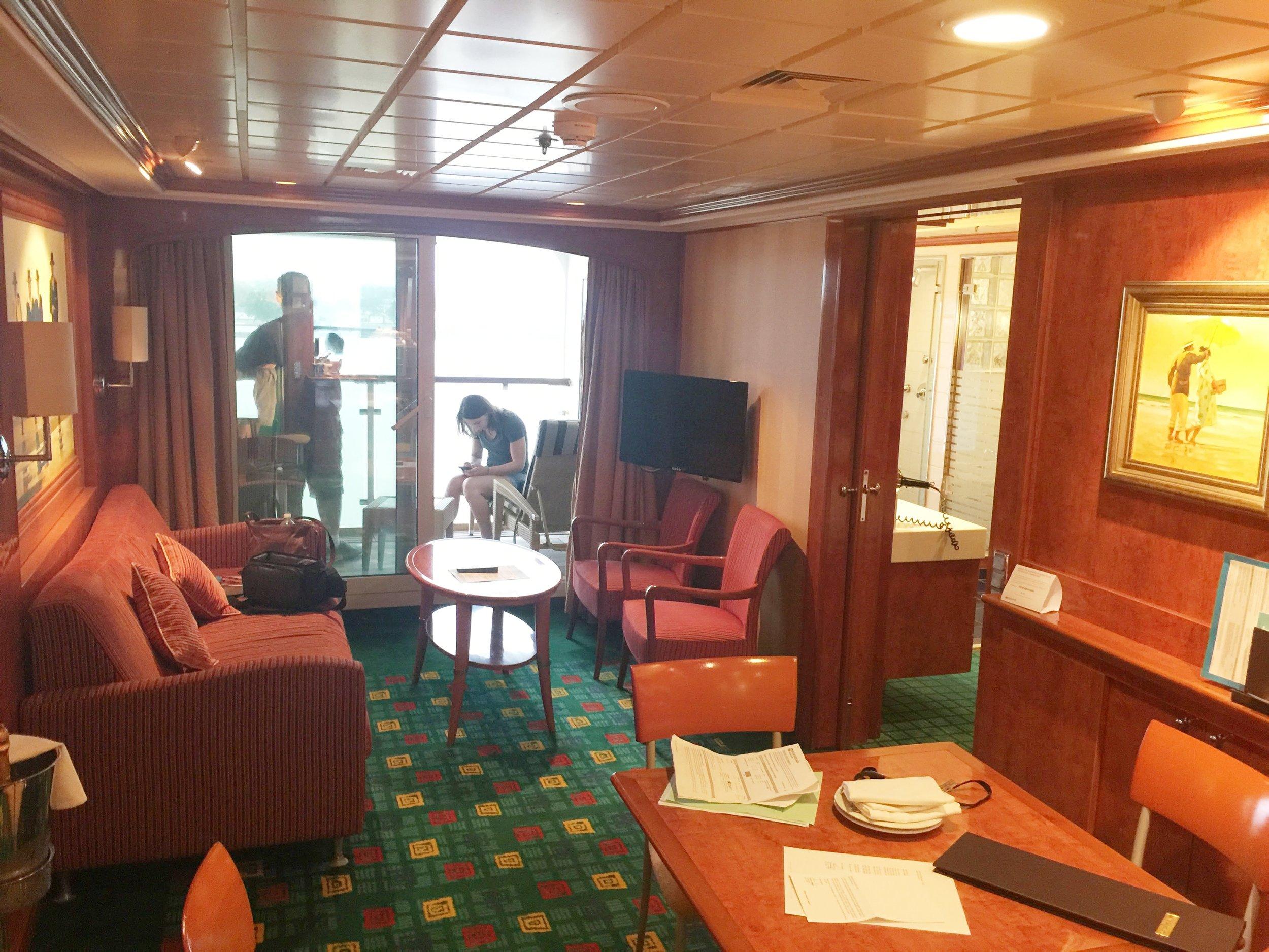 2-bedroom suite on the Norwegian Dawn.
