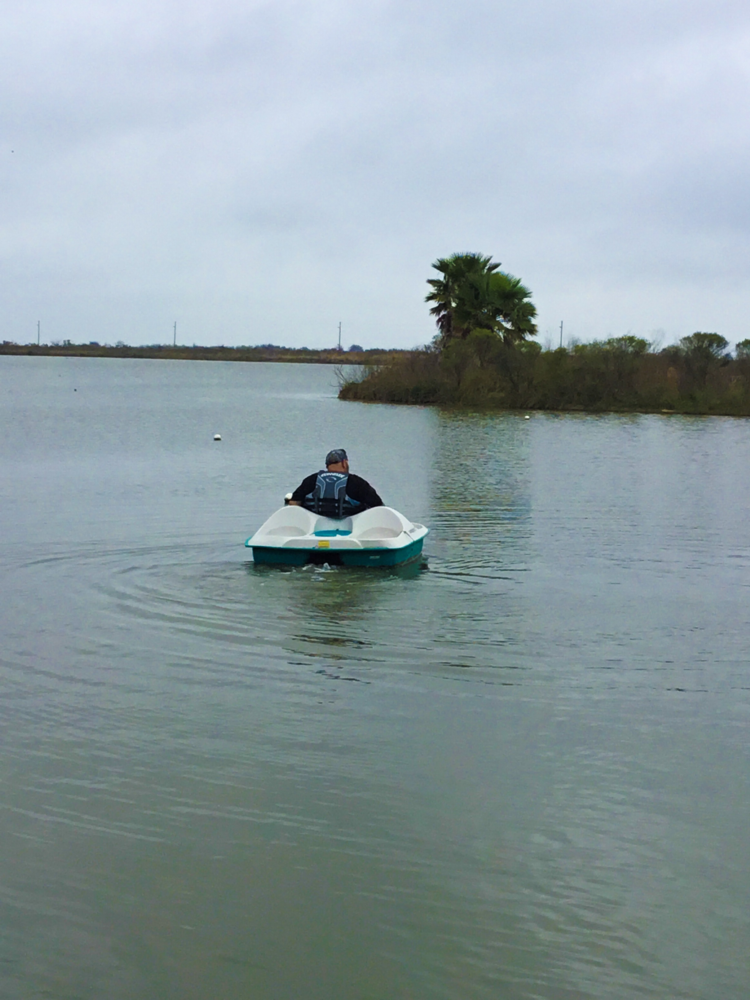 Hubby on his way to check the crab trap.
