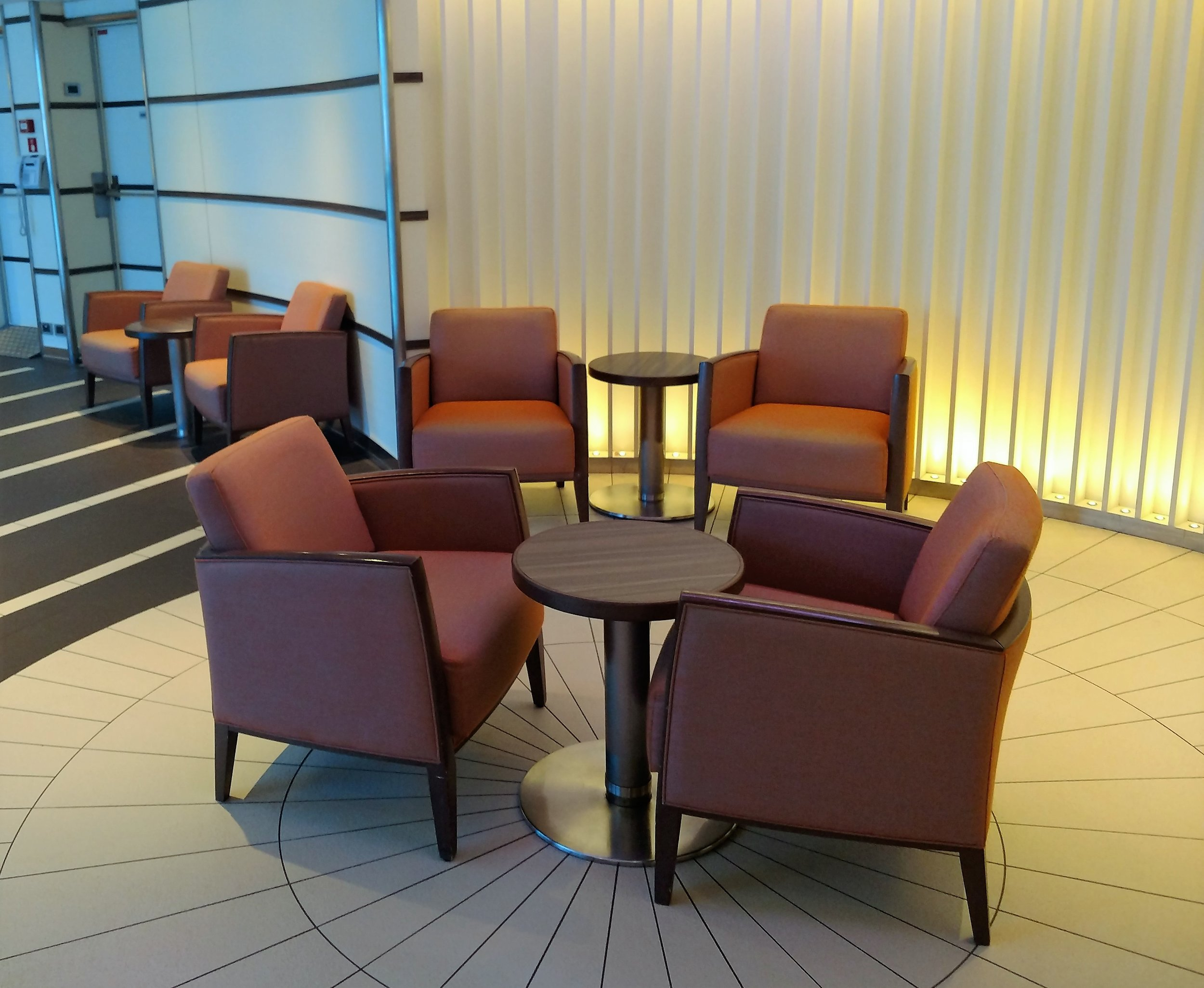 One of many seating areas found throughout the ship.