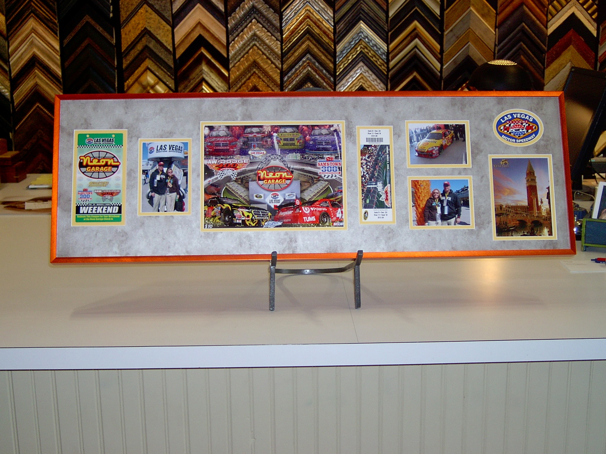 Custom Framed Racing Collage