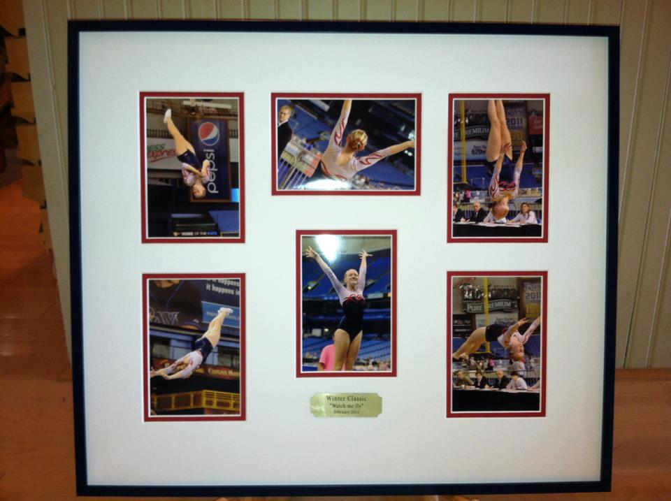 Custom Framed Gymnastics Photo Collage