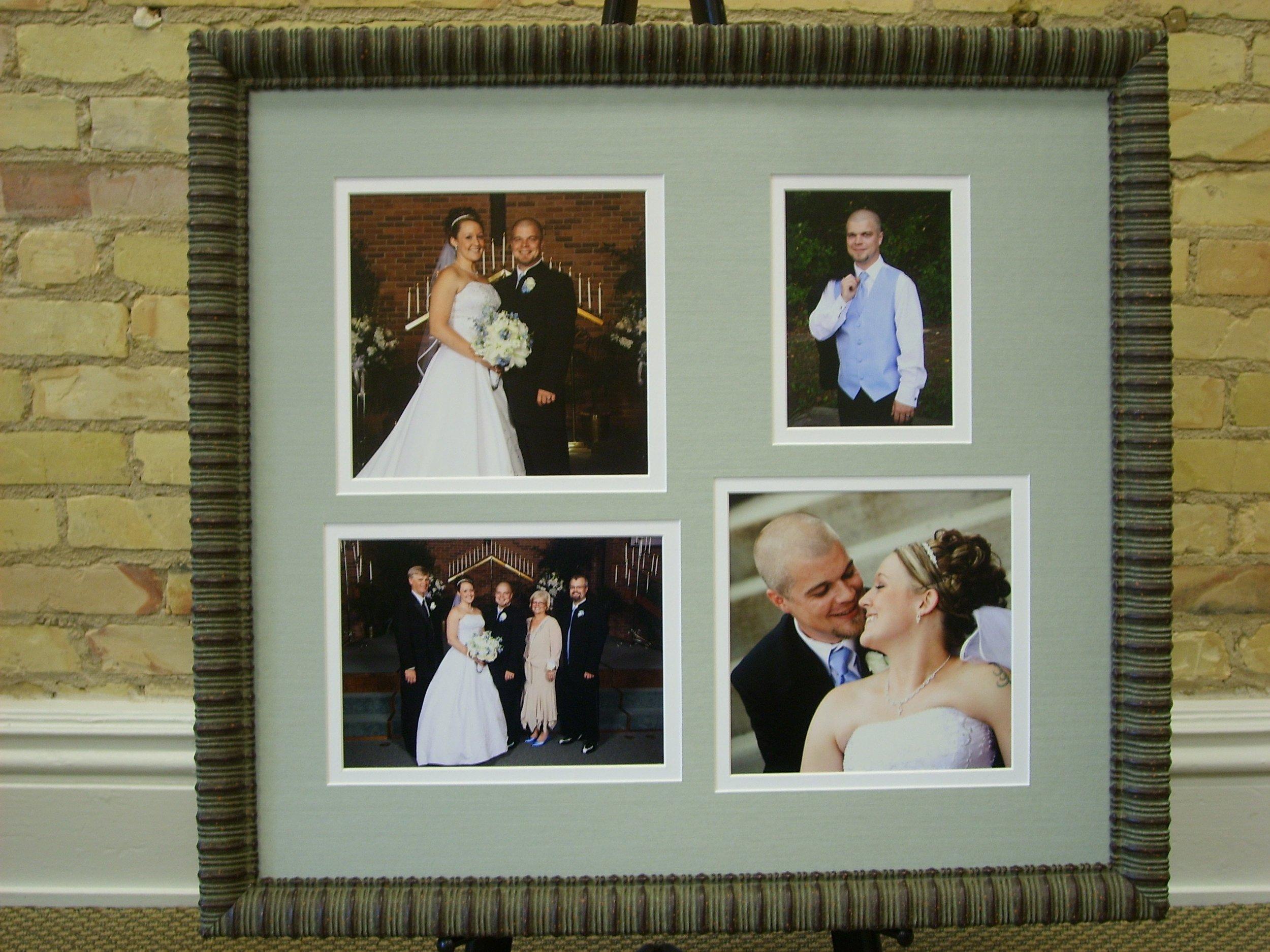 Custom Framed Wedding Photo Collage