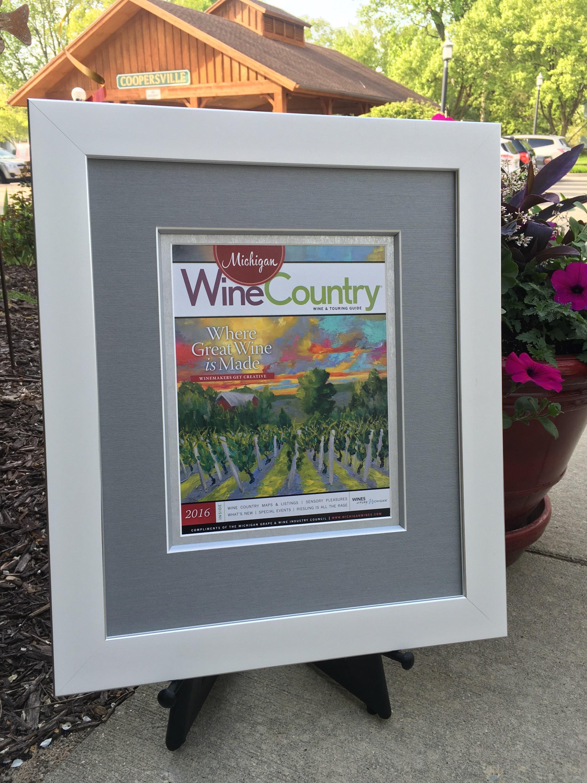 Custom Framed Wine Country Magazine Cover