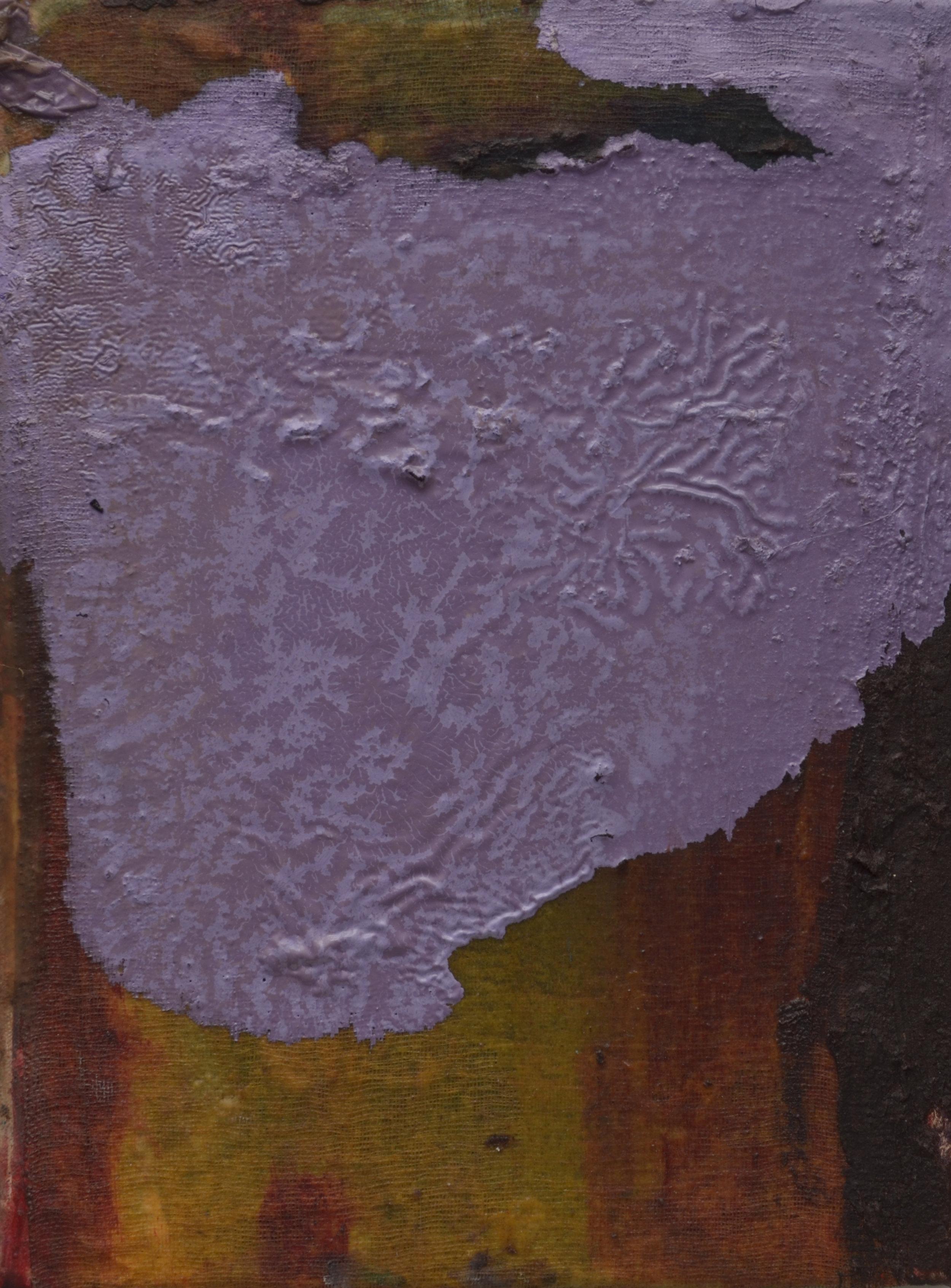 """My head a moon.  Oil on canvas.    15"""" x 11"""". 2016."""