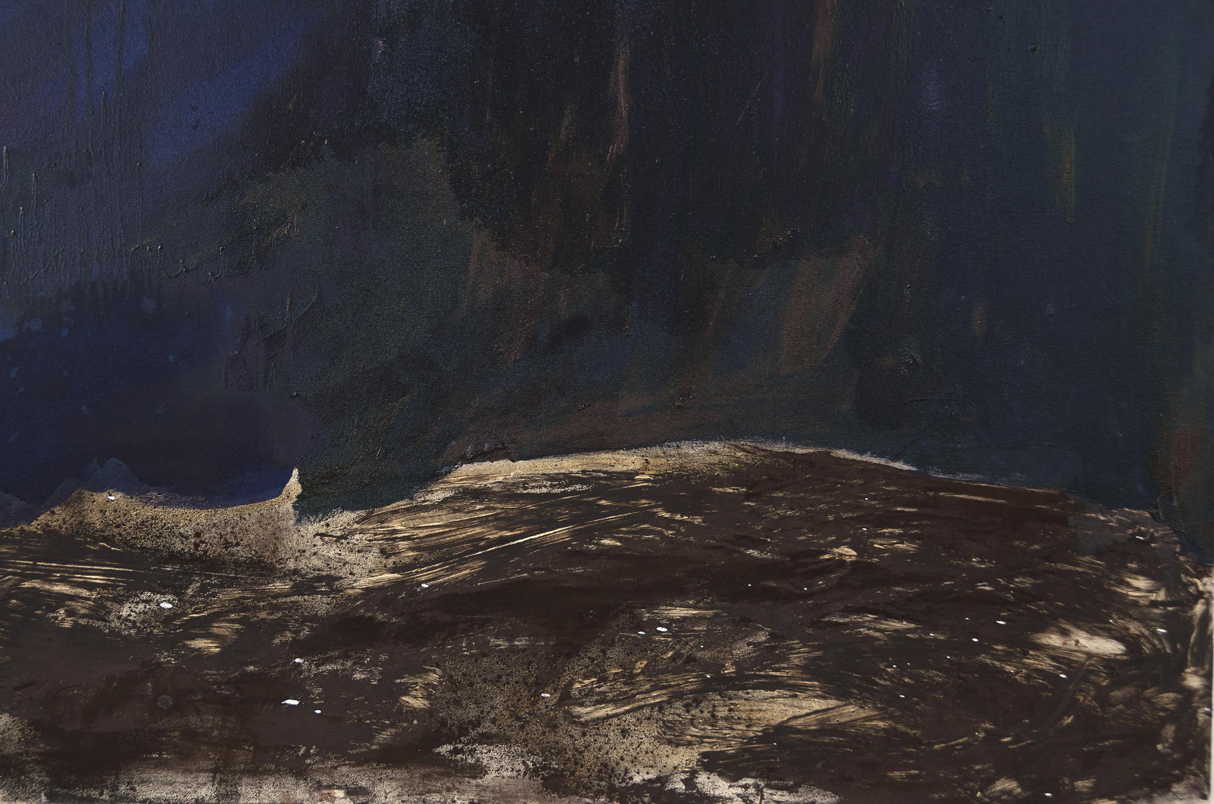 Neptune (detail).  Oil on canvas.    2015.
