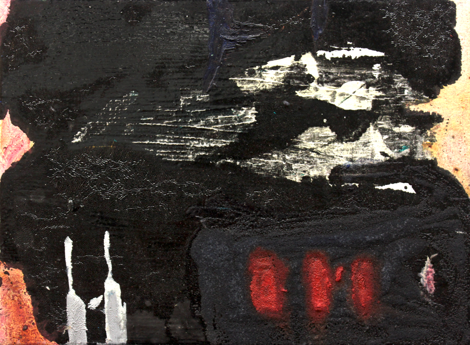 """Dig your teeth out . Oil on canvas.    11"""" x 15"""". 2013."""
