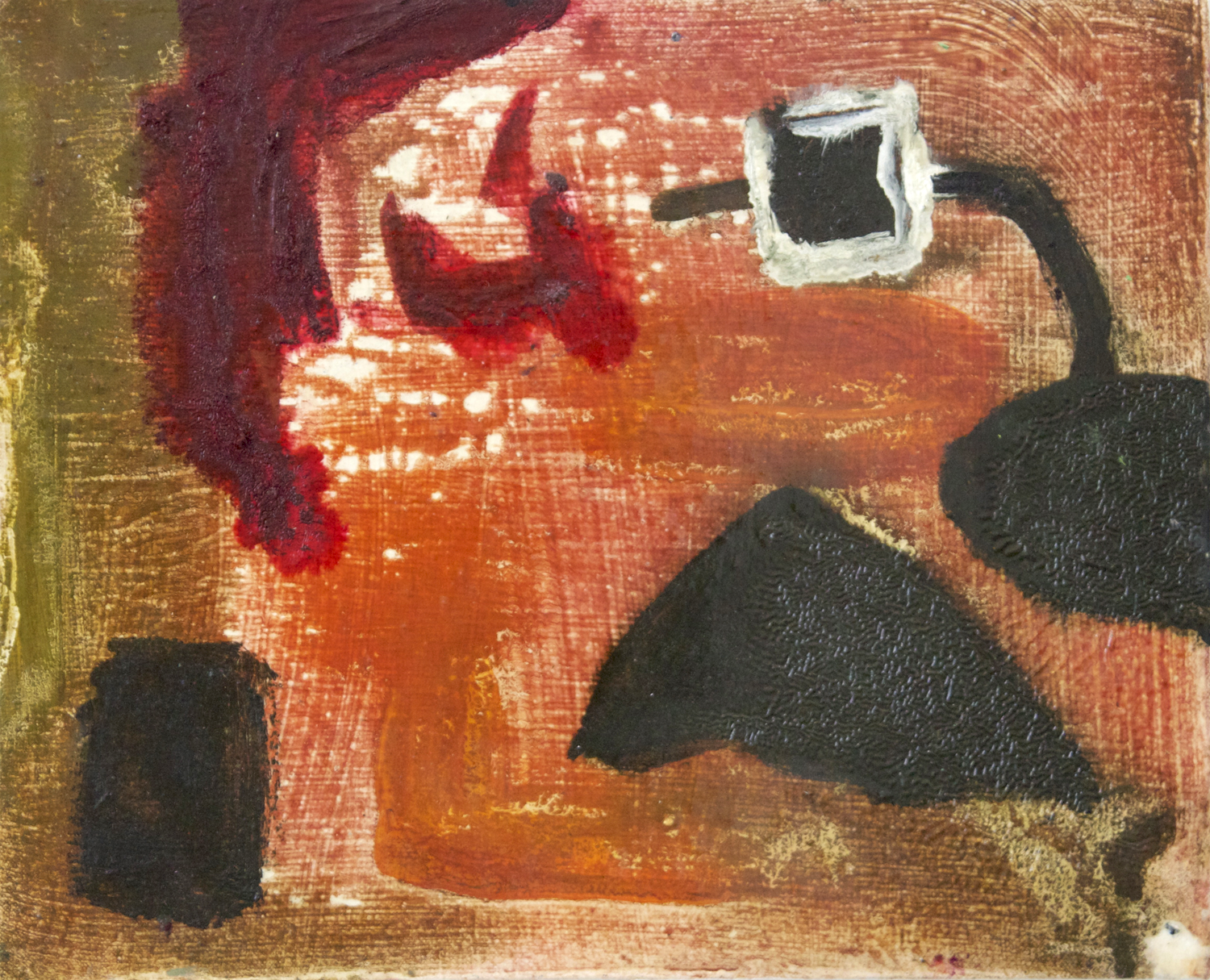 """Untitled.  Oil on canvas.    12"""" x 15"""". 2013."""