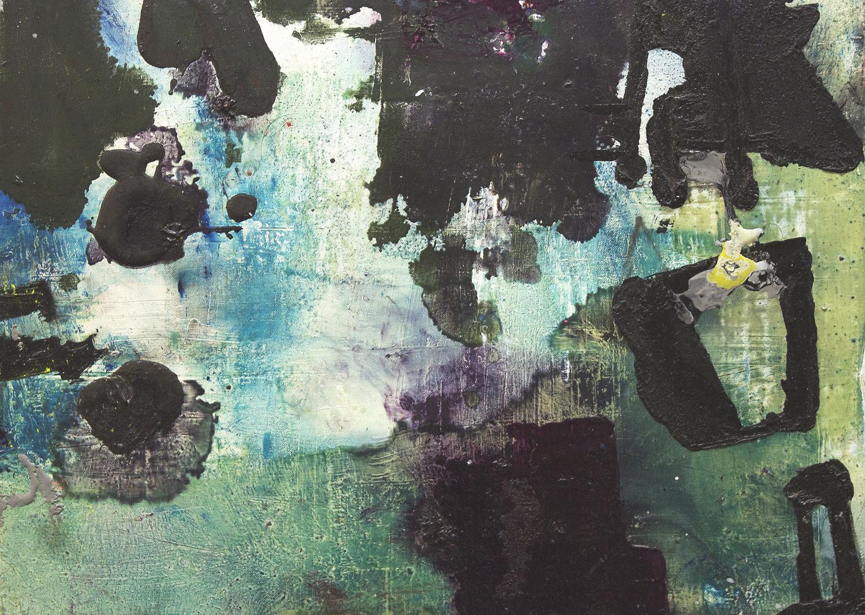 "Dive.  Oil on linen over panel.    16"" x 22"". 2013."