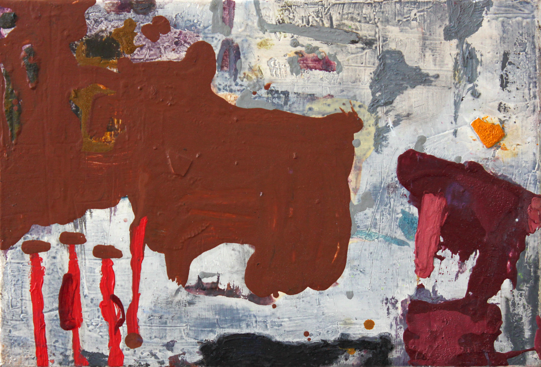 """Oblique city . Oil on linen.    10"""" x 15"""". 2013."""
