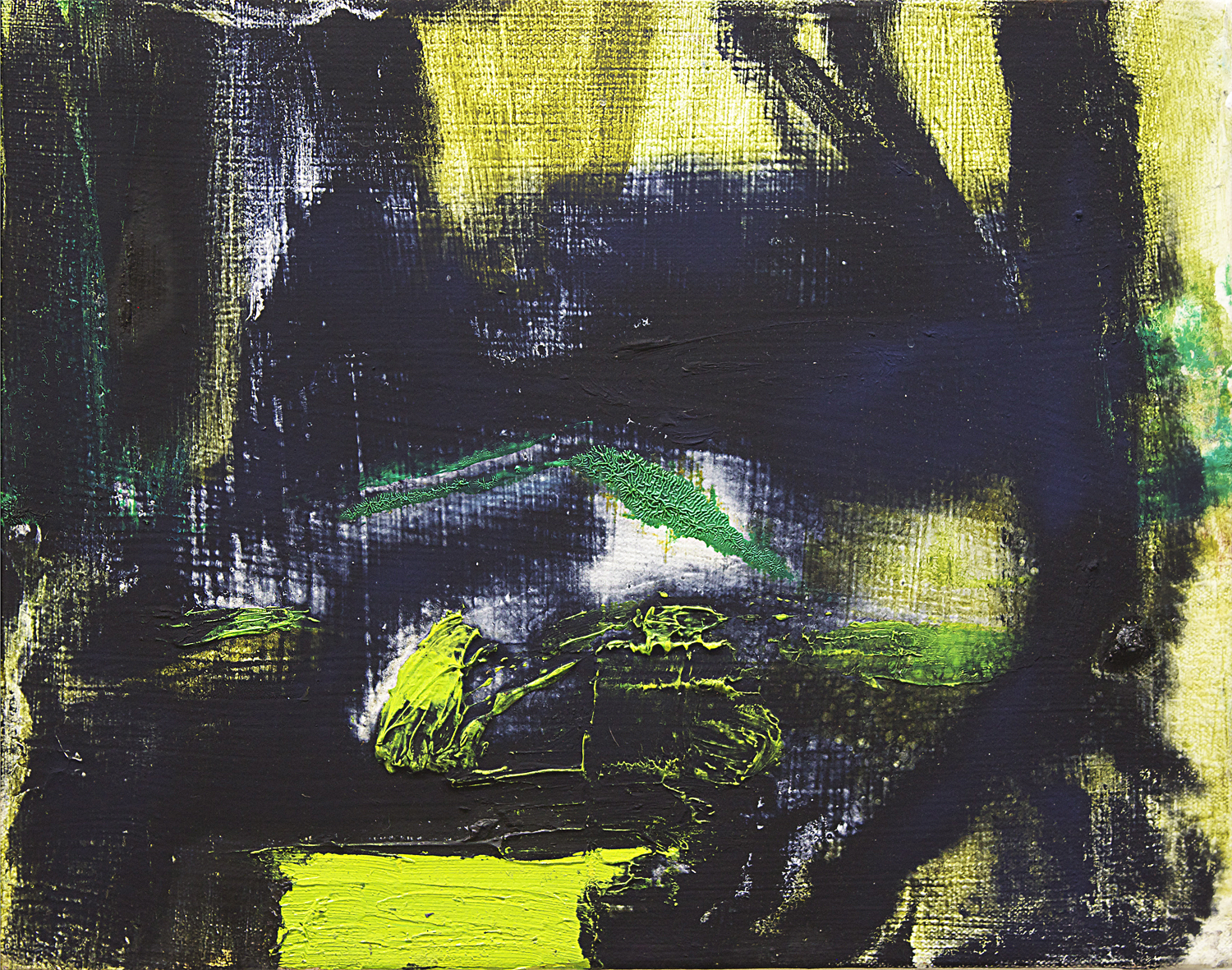 """As if by green magic.  Oil on Canvas.    11"""" x 14"""". 2013"""