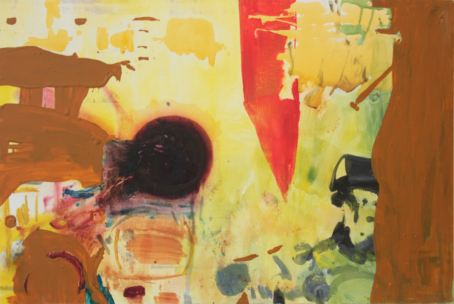 """Everything under the sun . Oil on canvas.    83"""" x 125"""". 2013."""