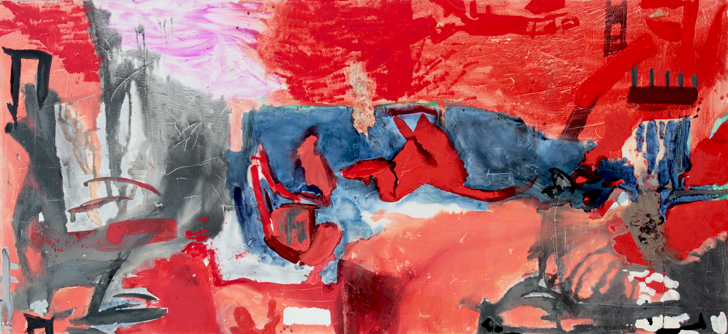 """Untitled . Oil on linen.    48"""" x 144"""". 2013."""
