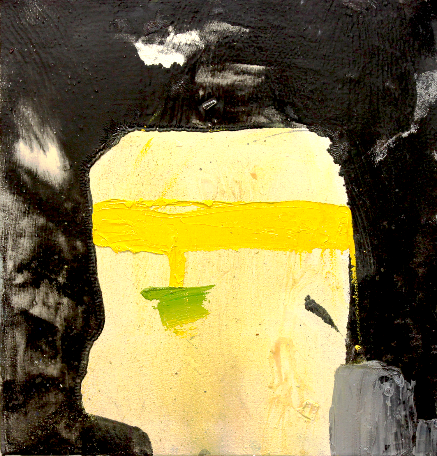 """Head to head . Oil on canvas.    16"""" x 16"""". 2013."""