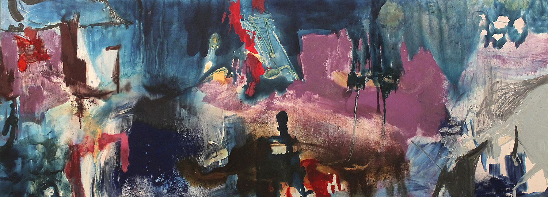 "Hoop Stress.  Oil on canvas.    73"" x 124"". 2012."