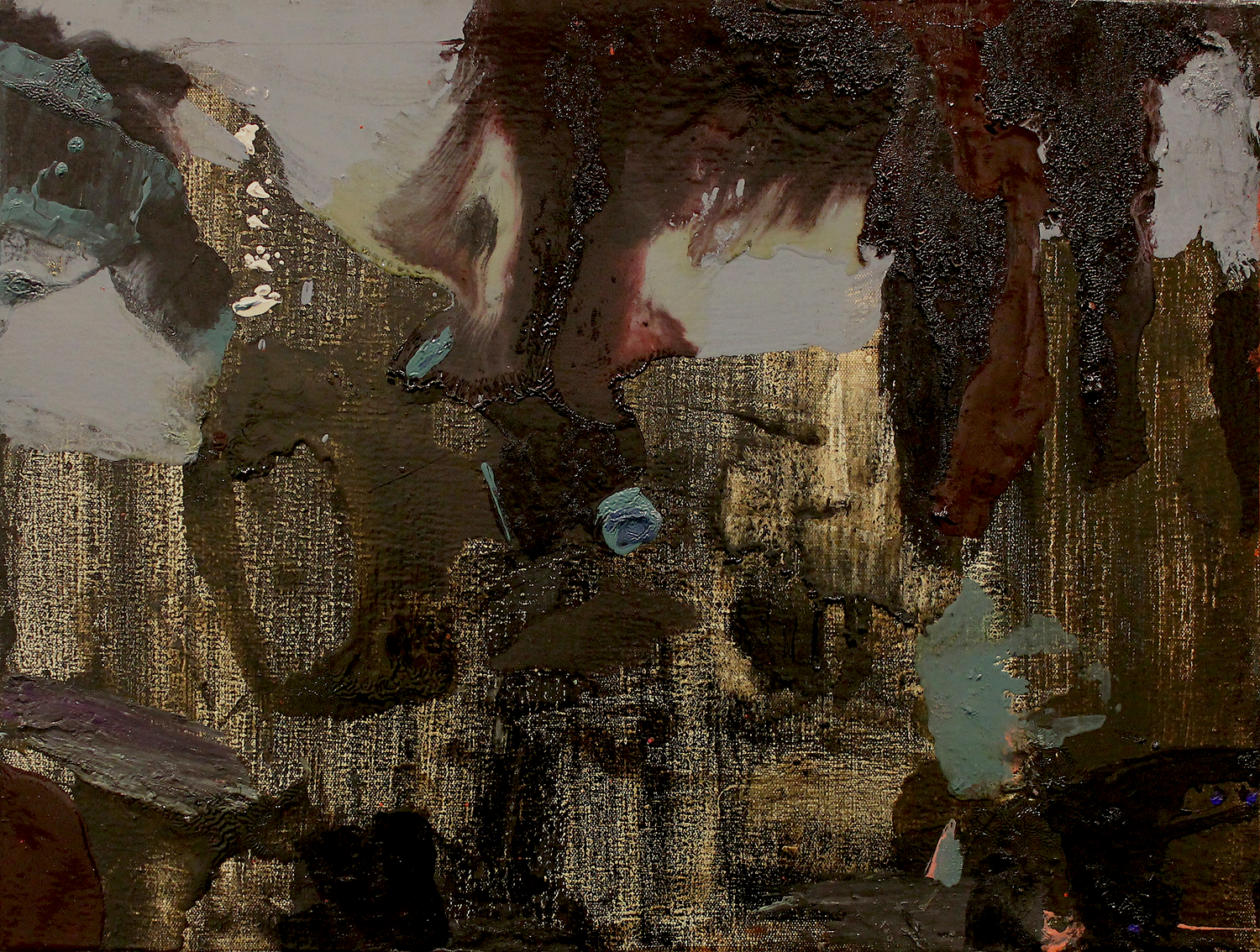 """Parts, Screens, and Gates .Oil on Canvas.    16"""" x 21"""". 2012."""
