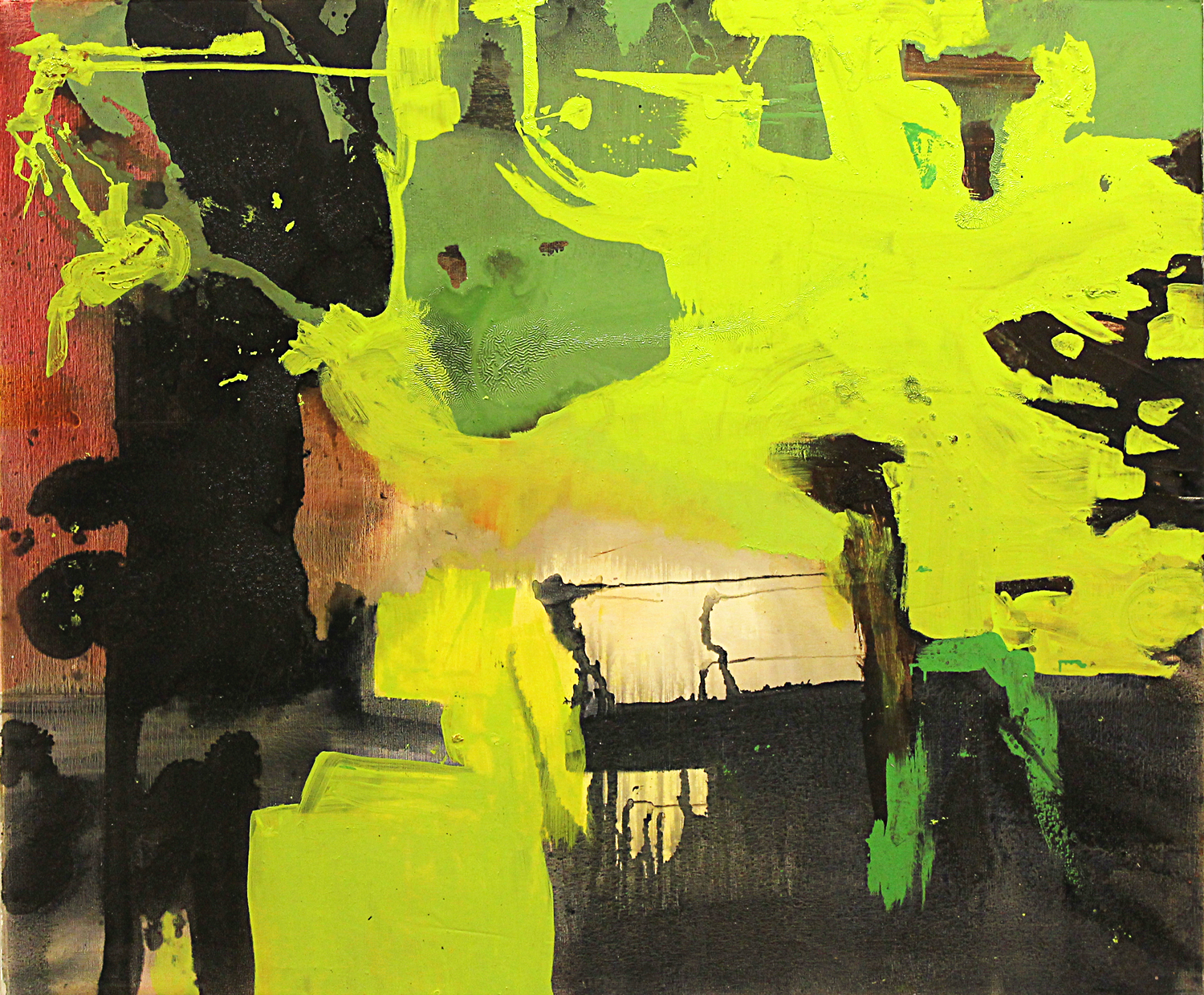 """The products of slow time.  Oil on canvas.    60"""" x 72"""". 2012."""