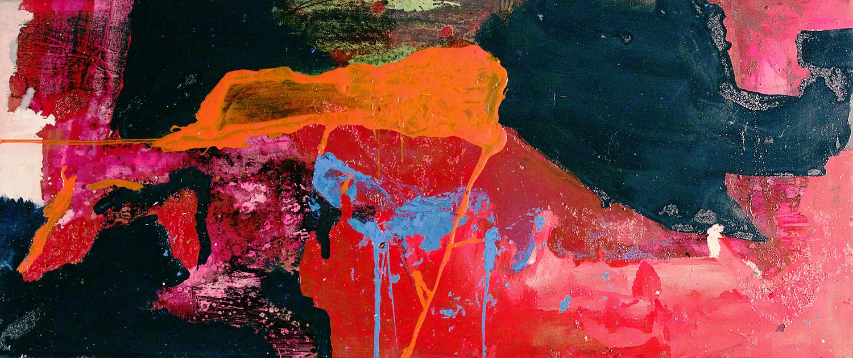 """Rumker Plateau.  Oil on canvas.    30"""" x 72"""". 2012."""