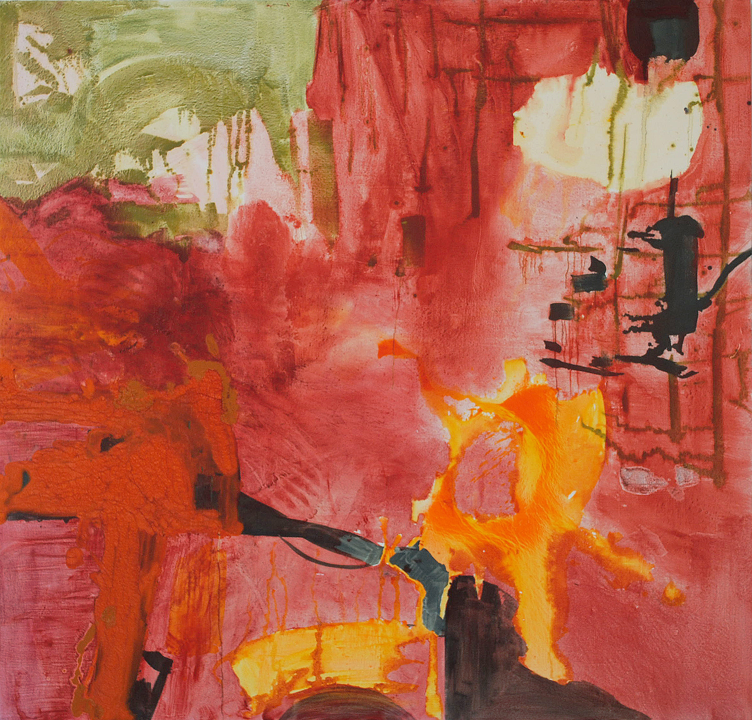 """Unchained.  Oil on canvas.    80"""" x 92"""". 2012."""