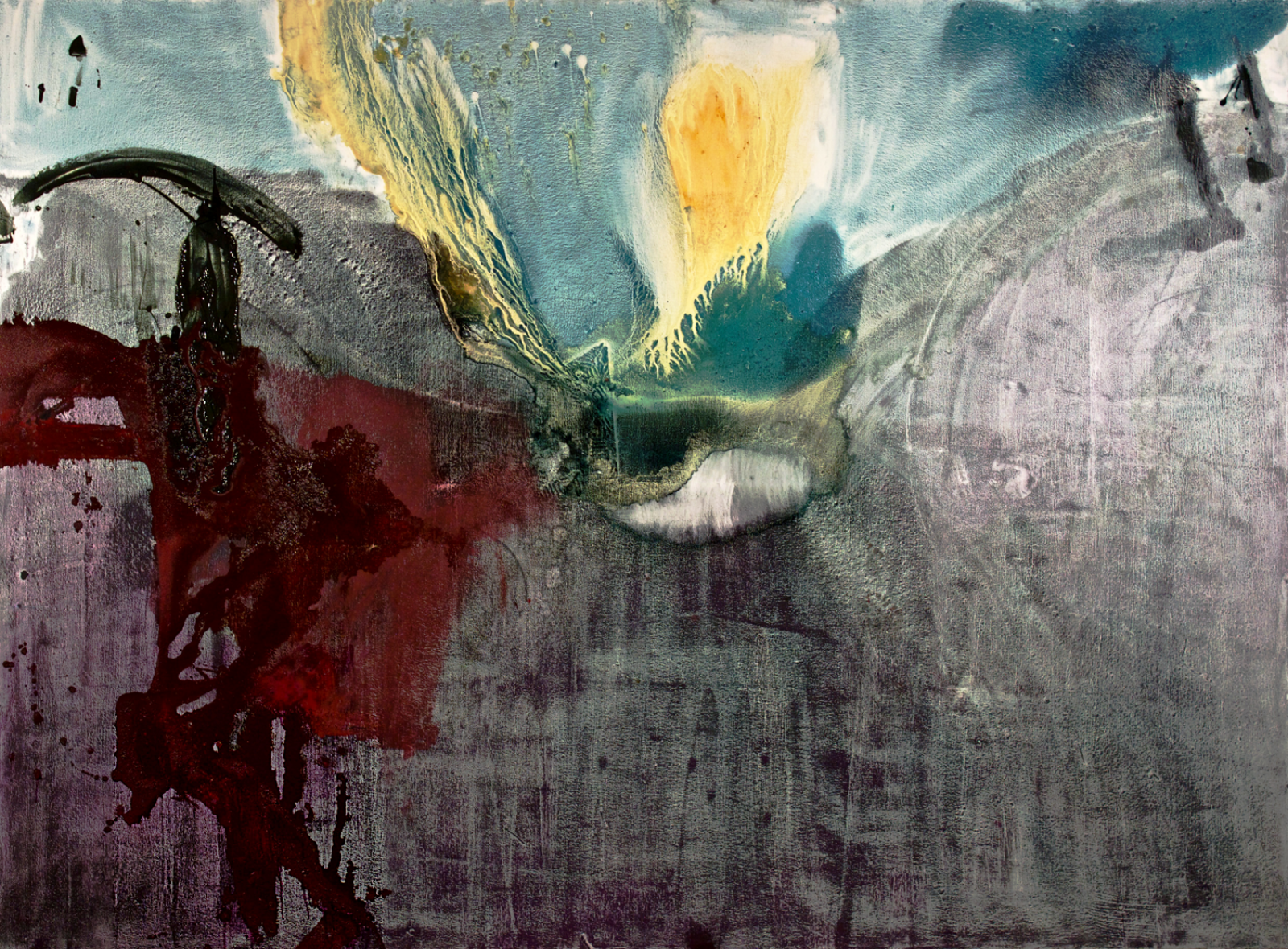 """Until it disappears . Oil on canvas.    68"""" x 96"""". 2012."""