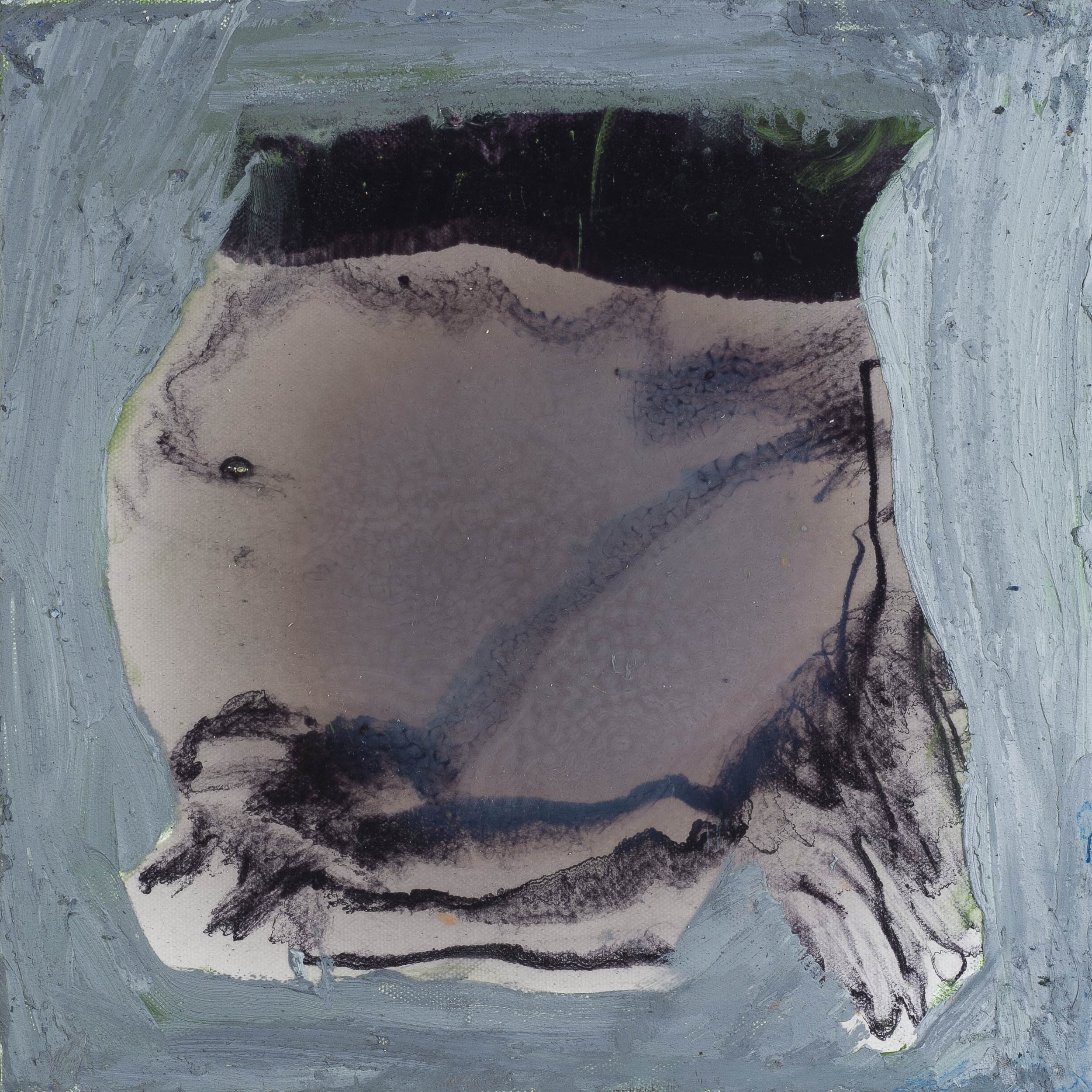 "Under Pressure . Oil on canvas.    12"" x 12"". 2013."