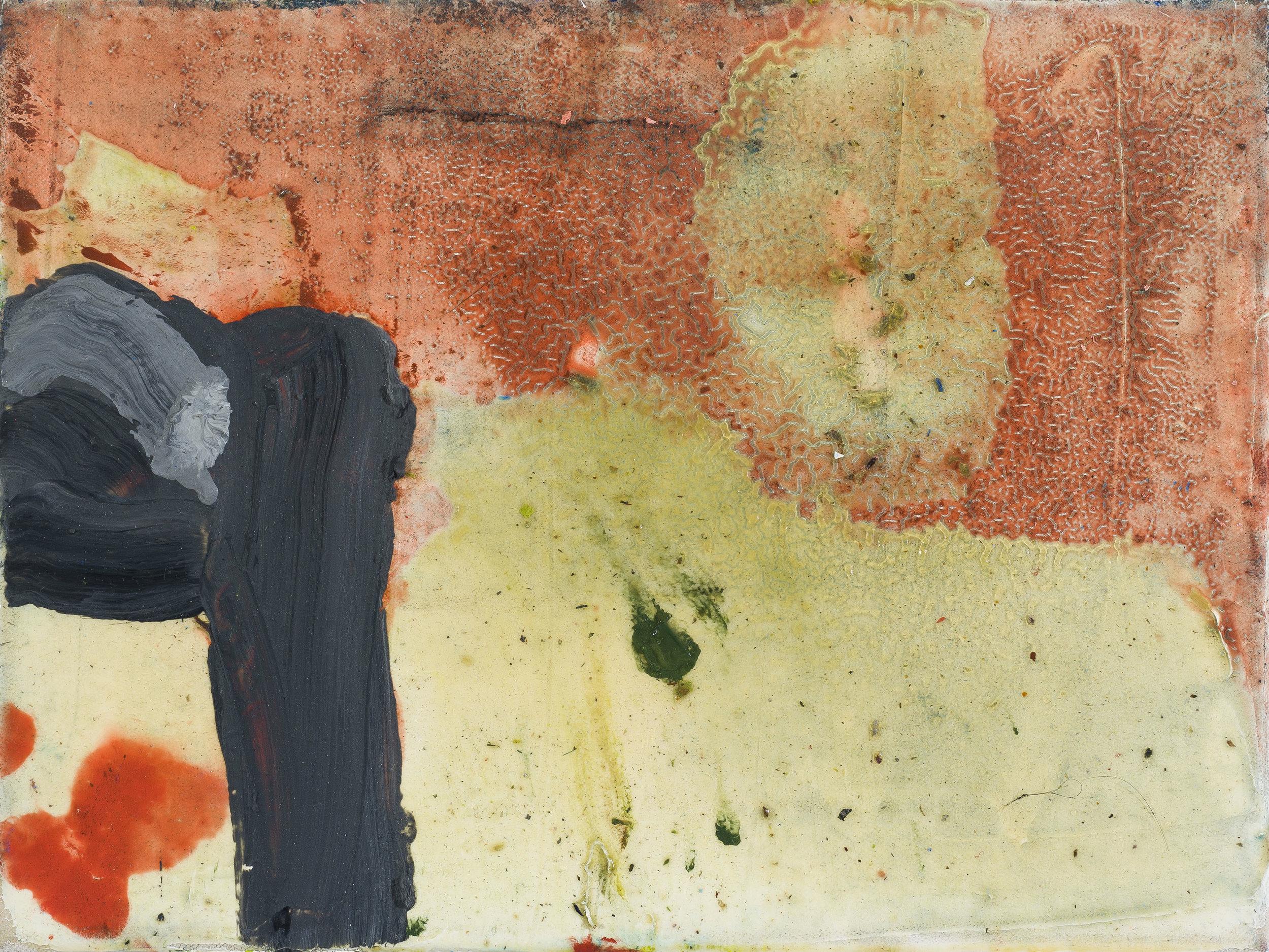 "Wasteland . Oil on canvas.    9"" x 12"". 2013."